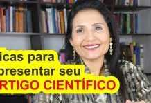 Como apresentar um artigo científico?