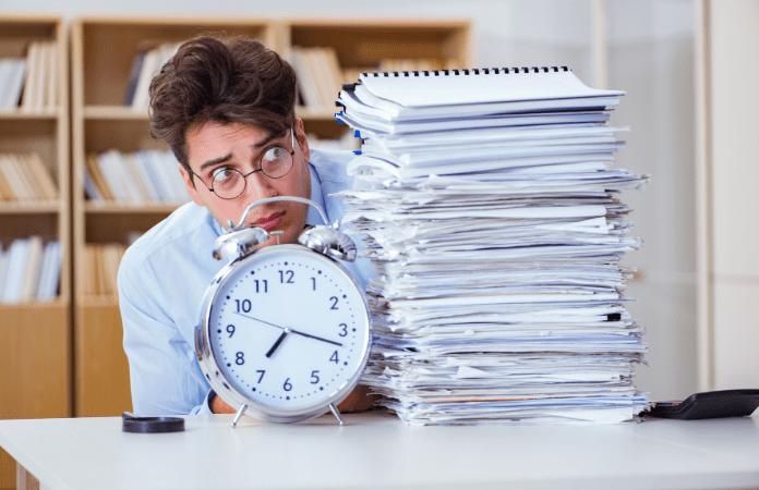 Não saber como lidar com os prazos da pesquisa