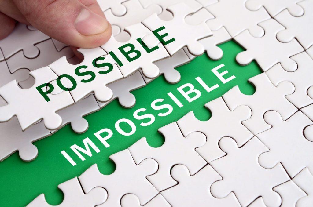 Separando o impossível do possível