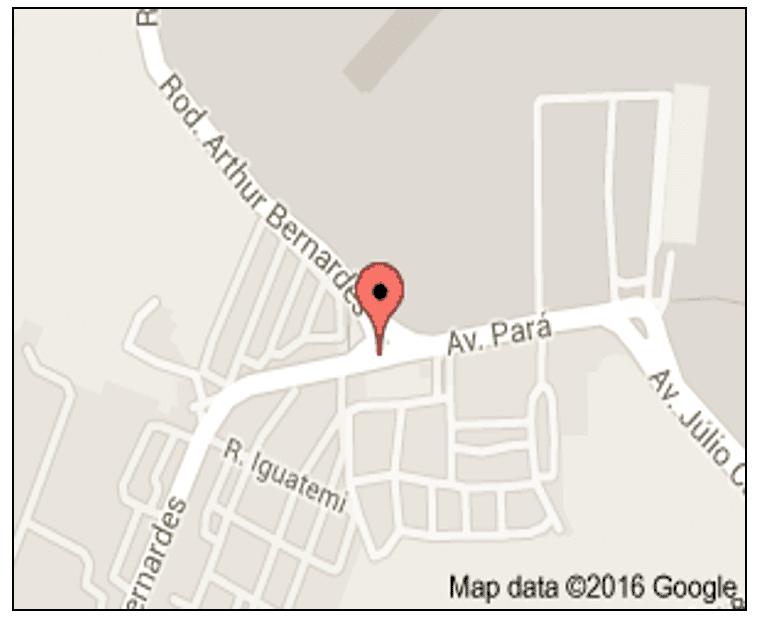 Figura 01: Localização da Indústria de Cervejaria CERPASA S/A Rod Arthur Bernardes, 7699 - Belém - PA, 66816-000 - (0xx)91 3204-7272.