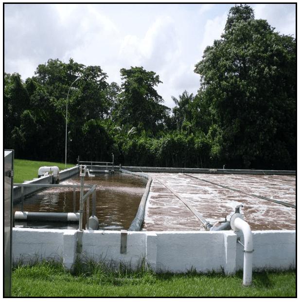 tanque de tratamento do descarte da produção de bebidas