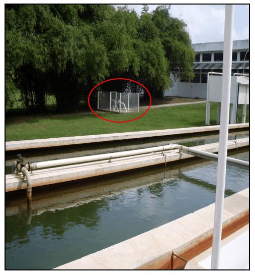 poço de captação do recurso hídrico