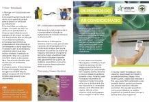 Folder explicativo aos alunos e de orientação aos profissionais responsáveis pela limpeza do aparelho de ar condicionado.