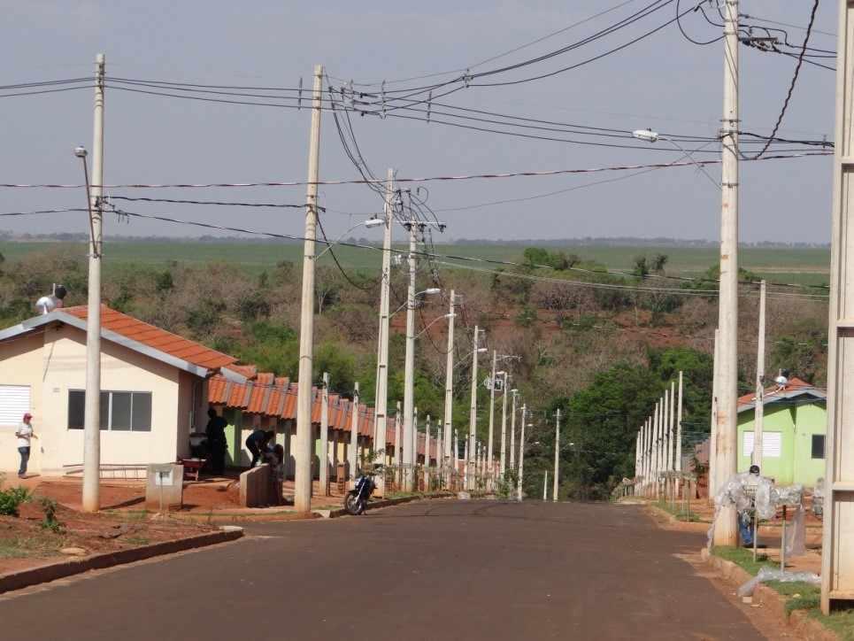 Figura 04: Declividade da vertente ao longo do bairro Nova Ituiutaba I Fonte: SILVA, S, C.2016
