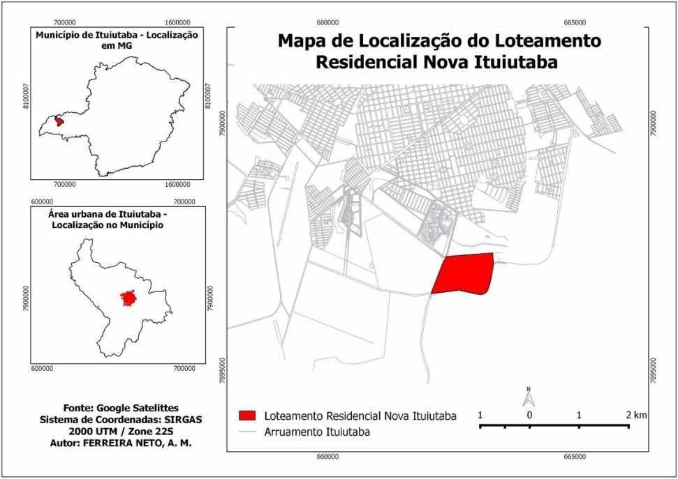 Figura 01: Localização da Área de Estudo. Org.: FERREIRA NETO, A. M.