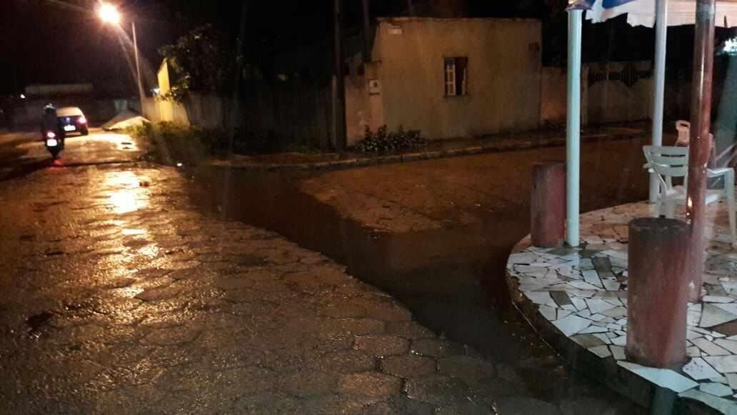 Figura 3 -Áreas Alagadas na Cidade de Posto da Mata (Ruas Pavimentadas)