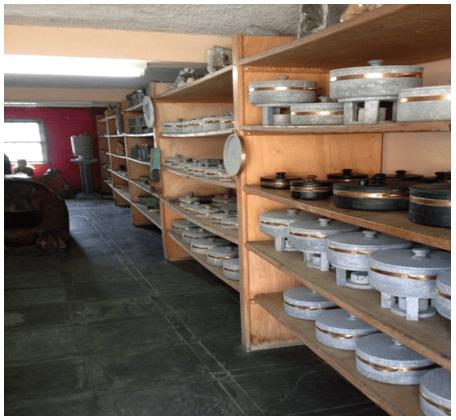 Produtos obtidos em pedra-sabão. Fonte: Próprio autor (2015).