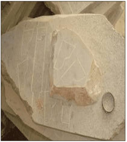Rocha com altos teores de talco, conhecida como pedra-talco. Fonte: SANTO (2009).