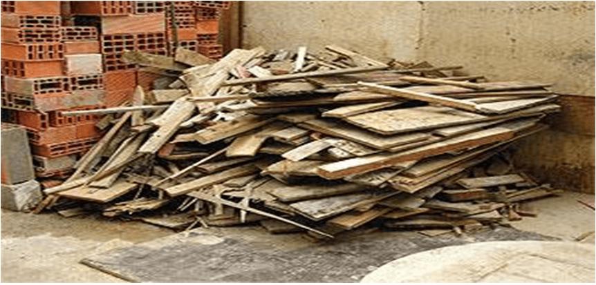 Resíduos de madeira. Fonte: Google imagens
