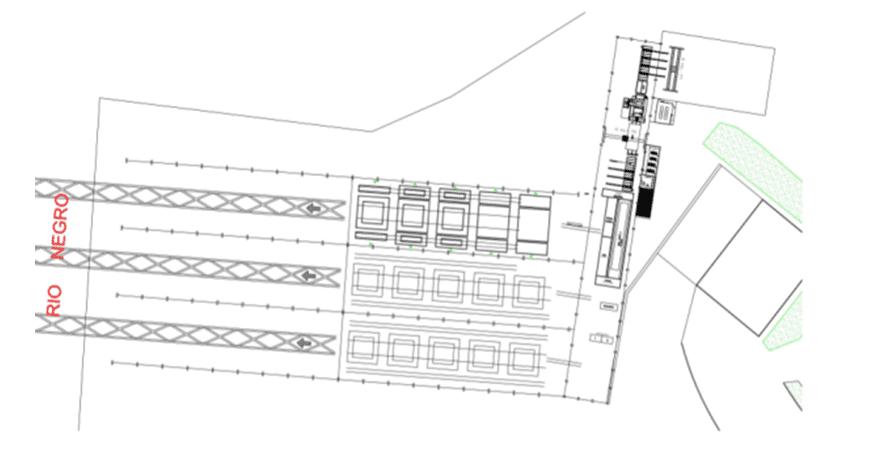 Figura 13 – Novo layout do estaleiro. Fonte: Beconal