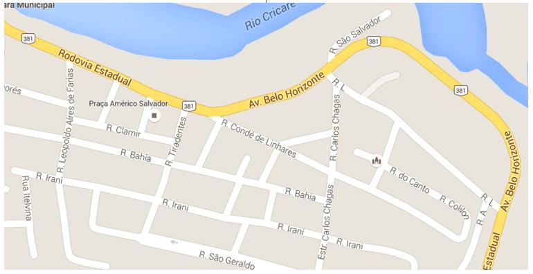 Localização do Bairro Filomena, objeto de estudo. Fonte: Google mapa.