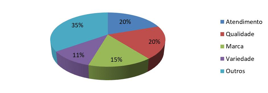 Gráfico 8: Idade x renda familiar x fatores que levaram a loja.Fonte: Dados coletados pela pesquisadora