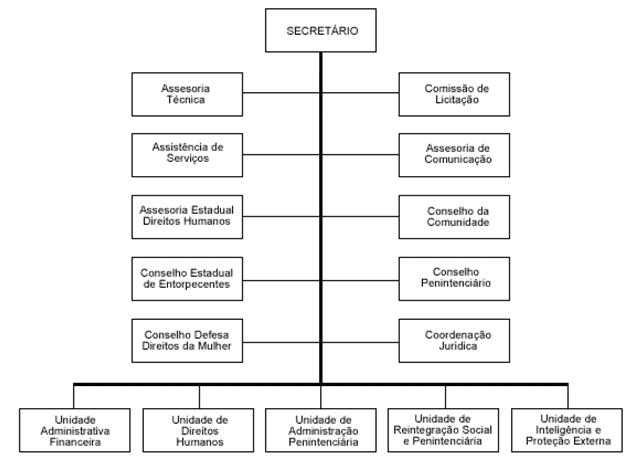 Figura 1 - Atual organograma da Secretaria da Justiça e de Direitos Humanos do Estado do Piauí