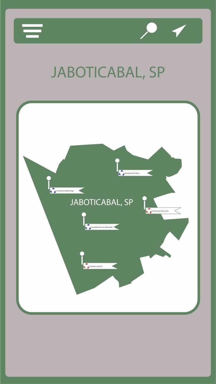 Figura 2 -Pontos de coleta no município de Jaboticabal – SP.Fonte: Próprios Autores