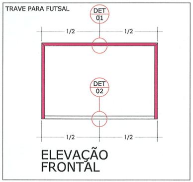 c97b81d984 Figura 4 - Localização dos pontos de ancoragem na trave e no piso – Elevação  Frontal