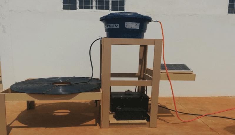 Figura 5 – Projeto em funcionamento com mangueiras de água adaptadas.