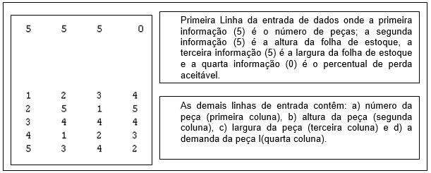 Figura 7 – Estrutura do Arquivo de Entrada