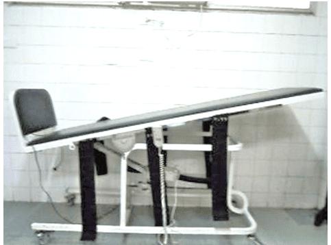 Figura 02: Prancha Ortostática Elétrica (CARCI).Fonte: (Arquivo pessoal, 2015).