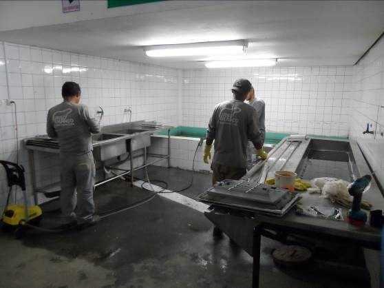 Figura 23 – Área ocupada por limpeza e pintura da manutenção.