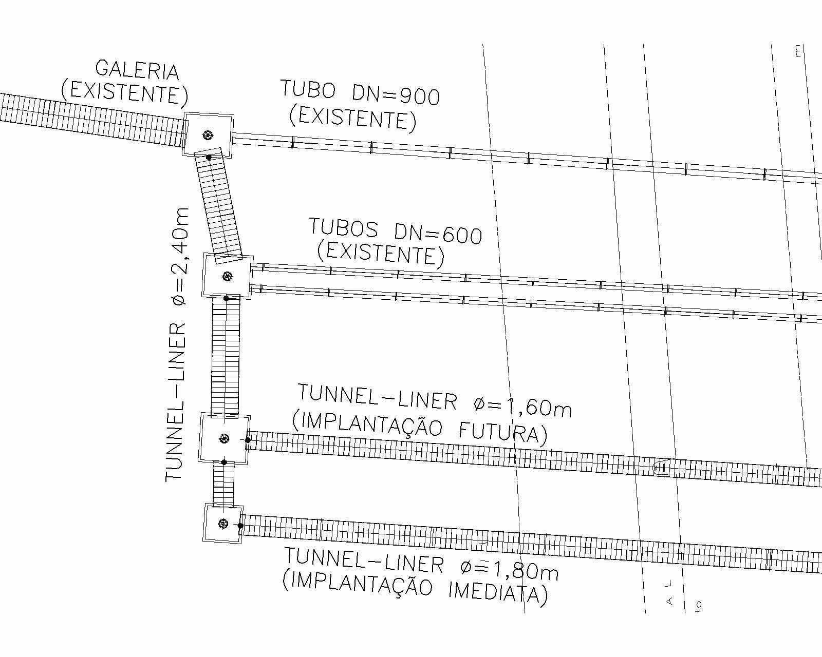 Figure 4 - schématique du système de drainage. Source: VIABAHIA (2016)