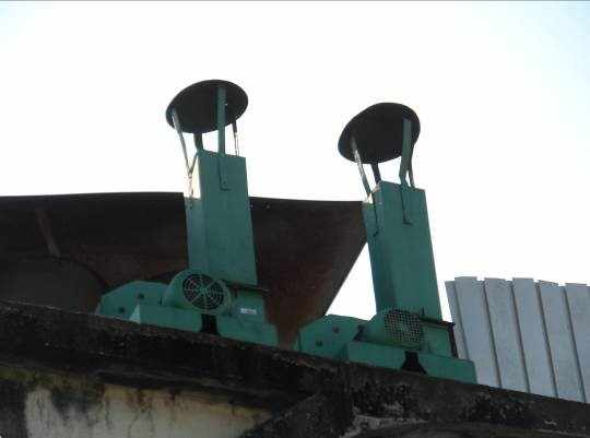 Figura 46 – Motores elétricos de exaustão.