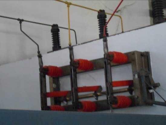Figura 63: Suporte de Manobra, Isoladores e componentes.