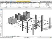 Figura 04 - Vista em três dimensões da localização dos pilares do projeto base. Fonte: Autores (2015)