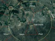Figura 3: Diagrama da Constelação de Órion. Imagem satelital - Google Earth. Coordenadas: -13.42995, -66.14525