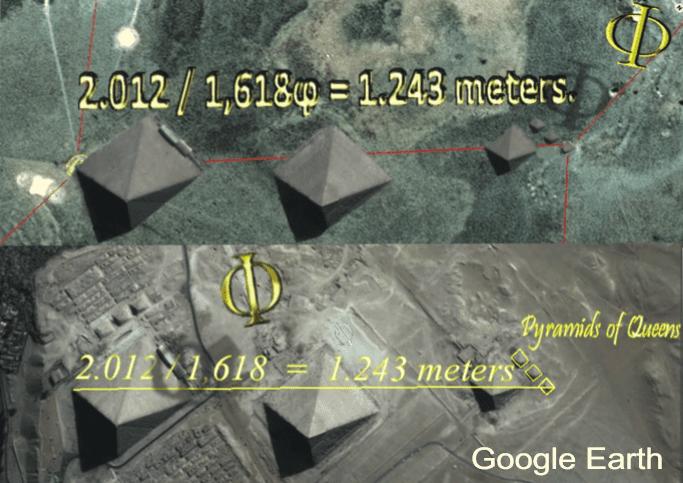 Figura 4: Representação do cinturão de Órion Imagens satelitais - Google Earth