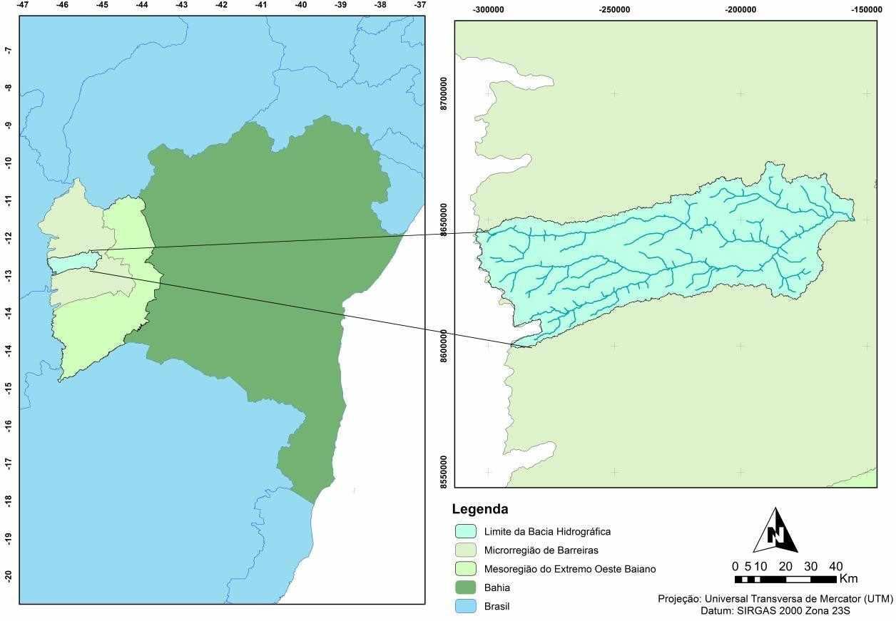 Figura 1: Localização da bacia hidrográfica do rio de Ondas.