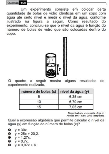 Figura 2 -Questão de análise de Tabela