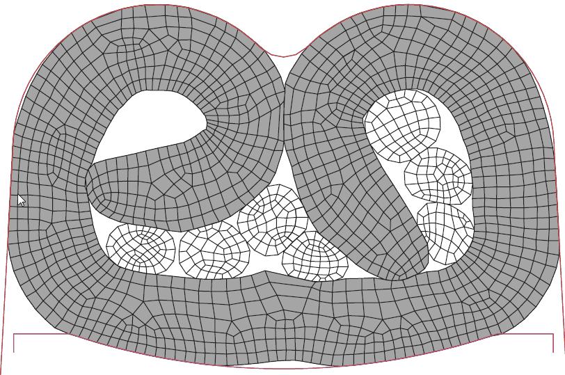 Figura 10: Terminal crimpado com atrito punção-terminal de 0.05.