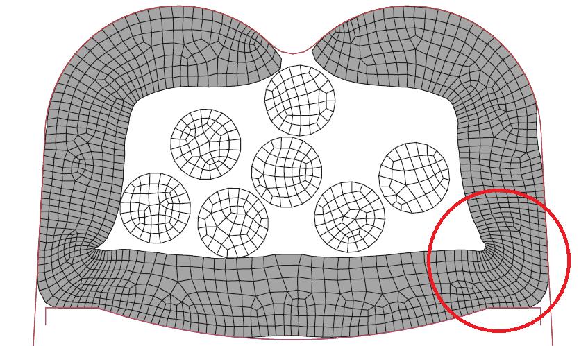 Figura 12: Terminal crimpado com atrito punção-terminal de 0.60.
