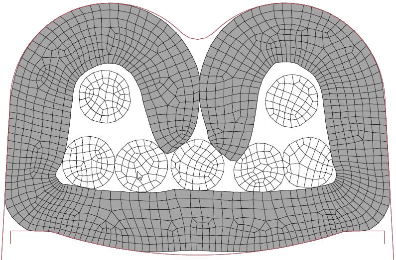 Figura 16: Terminal crimpado com velocidade do punção de 15 m/s.