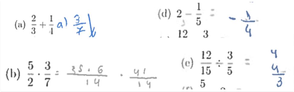 Figura 2: Operações com números racionais. Fonte: do autor (2017)