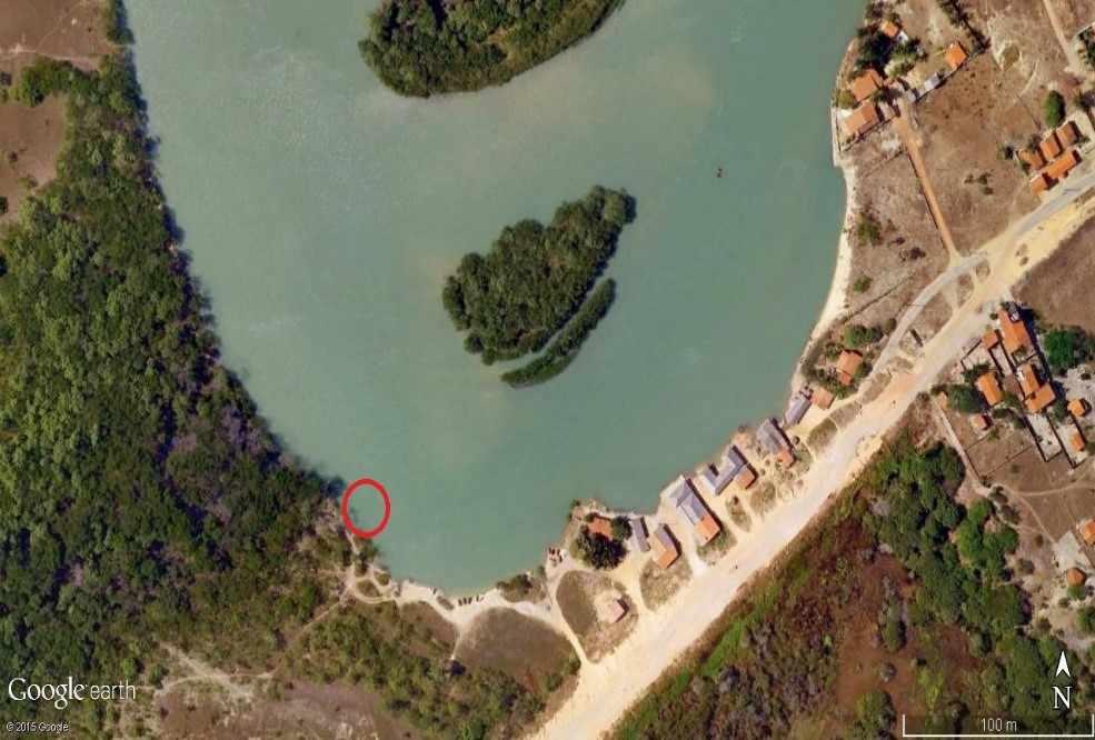Figura 3: Localização da área da coleta.Fonte: Google Earth 2015.