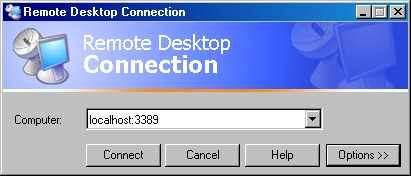 Figure 4-virtual server access via Remote Desktop connection (Windows). Source: adapted from (DSLREPORTS, 2013)