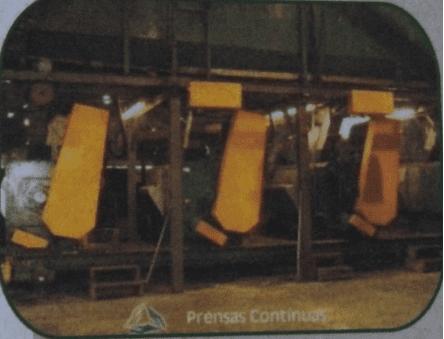 Figura 11: Prensas Contínuas. Fonte: Catálogo disponibilizado pela empresa Grande Rio Reciclagem Ambiental
