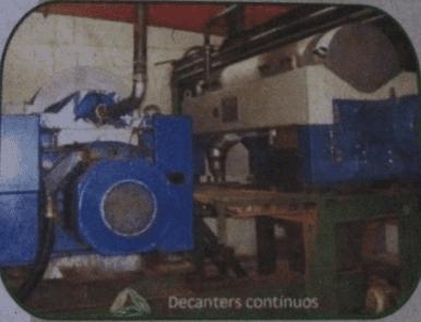 Figura 17: Decanters Contínuo. Fonte: Catálogo disponibilizado pela empresa Grande Rio Reciclagem Ambiental