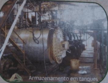 Figura 18: Armazenamento do Sebo. Fonte: Catálogo disponibilizado pela empresa Grande Rio Reciclagem Ambiental
