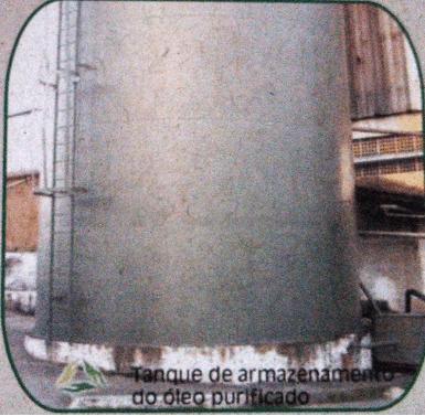 Figura 25: Tanque de armazenamento de óleo purificado. Fonte: Catálogo disponibilizado pela empresa Grande Rio Reciclagem Ambiental