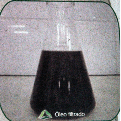 Figura 26: Óleo Filtrado. Fonte: Catálogo disponibilizado pela empresa Grande Rio Reciclagem Ambiental