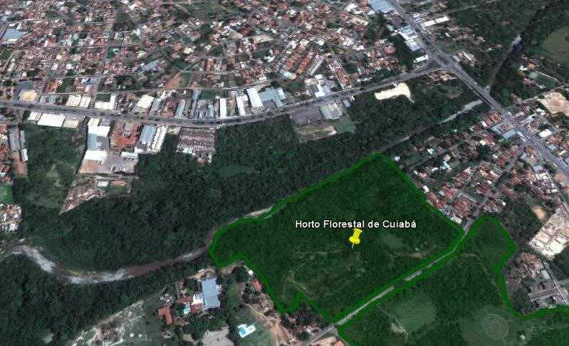 Figura 1 Imagem google. Earth – Horto Florestal
