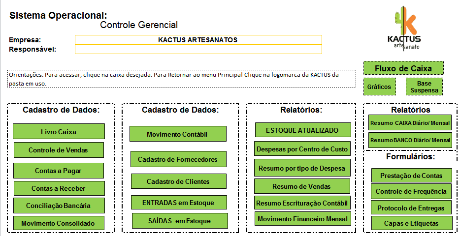FIGURE 1: Print the worksheet tab of managerial control schematic. Source: Worksheet created by Flávia Medrado, author of this article.