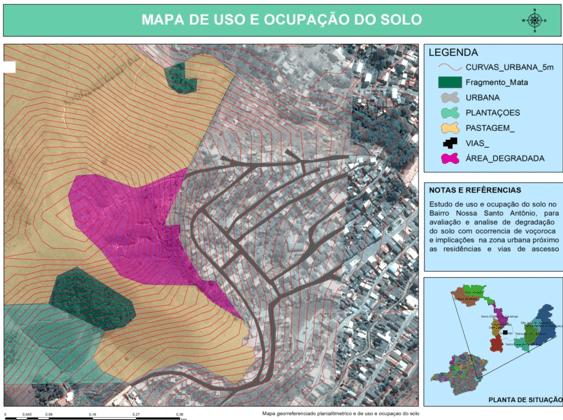 Figura 2 – Uso e ocupação do solo do bairro Santo Antônio (Fonte: Autores)