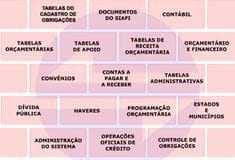 Tabela 1: Estrutura do Siafi. FONTE: SECRETARIA DO TESOURO NACIONAL et al., 2018.