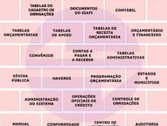 Tabela 1: Estrutura do Siafi. FONTE: SECRETARIA DO TESOURO NACIONAL et al., 2018.