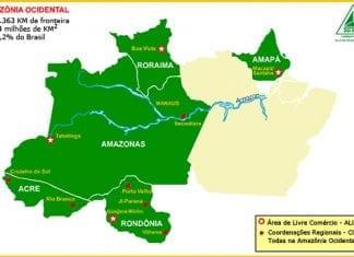Mapa localizando as descentralizadas
